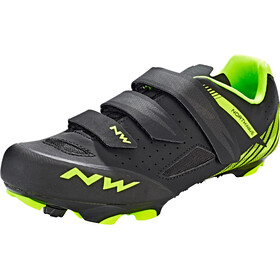 Northwave Origin kengät Miehet, black/yellow fluo